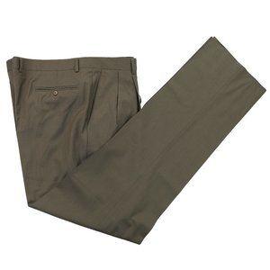 NWT Zanella Bennett Wool Dress Pants Taupe Size 44